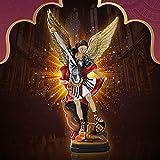 HJXX Adornos creativos de Resina dinámica, Regalos católicos, Nueva Estatua de Batalla de ángel y Demonio, Adorno de estatuilla de Resina para el jardín del hogar