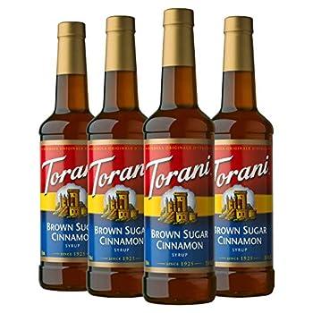 Torani Syrup Brown Sugar Cinnamon 25.4 Ounces  Pack of 4