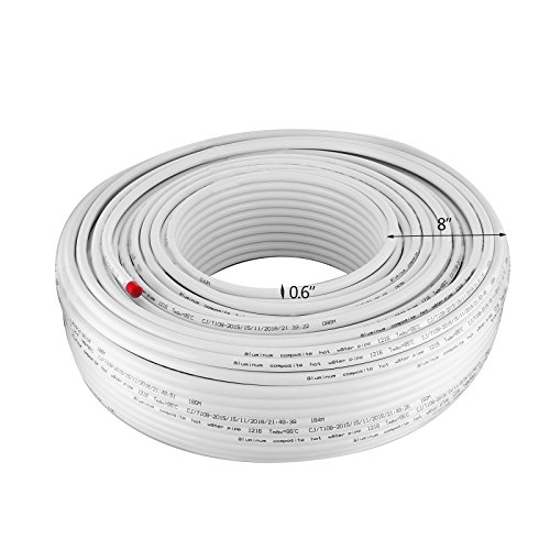 BuoQua 16x2mm Tubo Multistrato In Alluminio Lunghezza 300m Alluminio Tubo Multistrato PEX Materiale Composito Rotolo Da 300m Tubo Multistrato 16x2mm PEX Tubo Di Riscaldamento (300m)