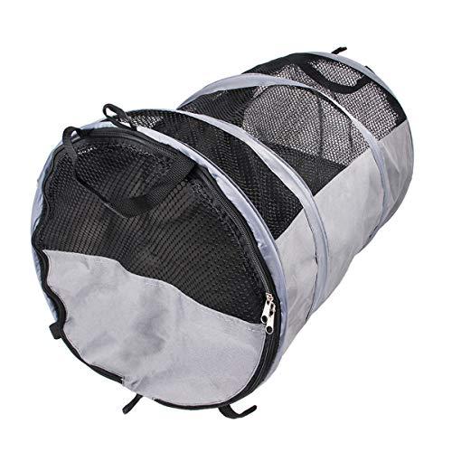Nicoone Transportador de perros plegable tubo de viaje para mascotas portátil transpirable jaula de perro para mascotas tienda de animales