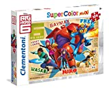 Clementoni - 23672.5 - Puzzle Super Color Maxi - 104 Pièces - Big Hero 6