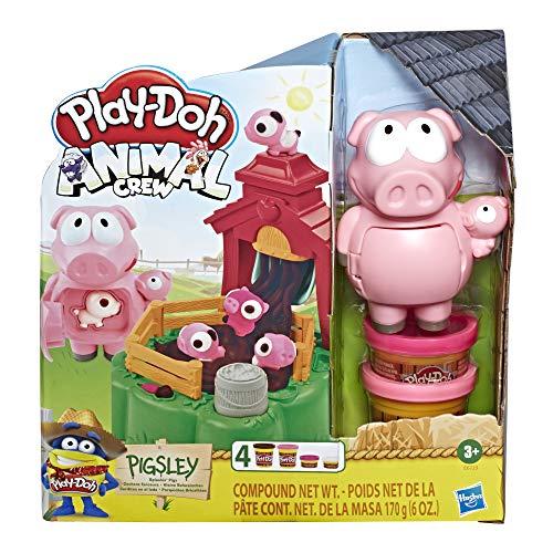 Hasbro Play-Doh - I Maialini della Fattoria (playset Animali da Fattoria Animal Crew, con Pasta da Modellare Play-Doh in 4 Colori atossici)