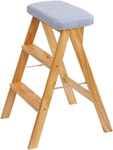 ZXWDIAN Chaise Longue Tabouret de ménage, Tabouret élévateur à Coussins de Cuisine Tabouret en Bois Massif en Bois, Chaise - Tabouret Pliant chaises Pliantes