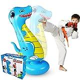 Dinosaur Punching Bag for Kids, Boxing Bag for Kids/Training/Fun Activity, Boxing Target Bag for Children (Blue Child)