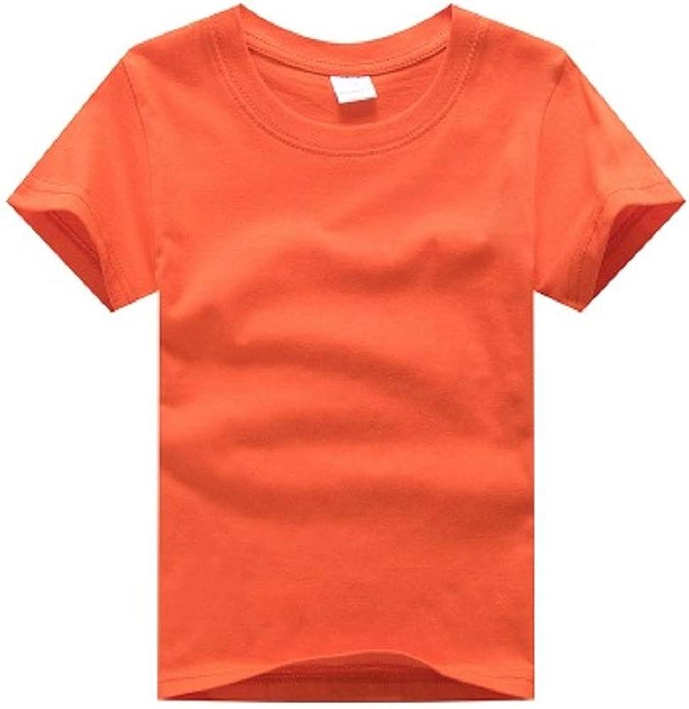 Hooyi Customized Children T-Shirts Short Sleeve Cotton Boy Tees Orange Shirts Personal Logo