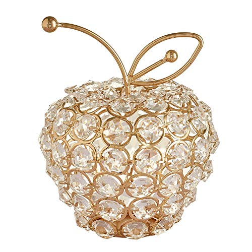LEV Figurines & Miniatures - 3D Bling Rhinestone Crystal pear Apple Ornament Home Wedding Bday Gifts - by 1 PCs