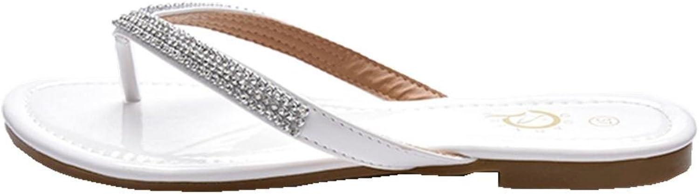 SAMSAY Women's Flats Flip Flop Sandals