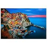 ZCX Adulti Paesaggio della Decorazione 1000 Pezzi di Legno Jigsaw Bambino Giocattolo educativo del Regalo della Pittura di Paesaggio Italiana Cinque Terre Puzzle rompicapo