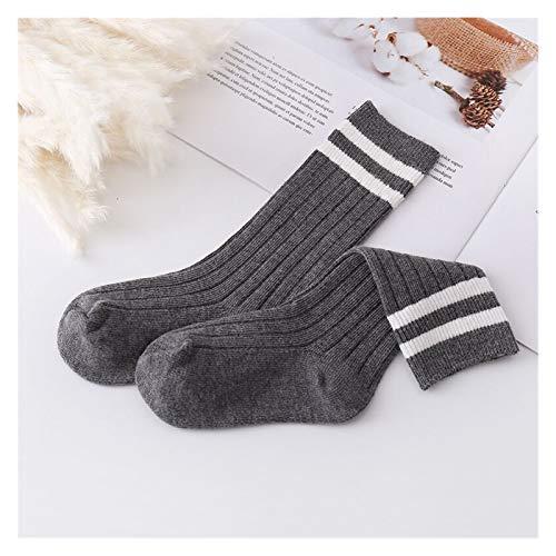 Zxebhsm Sock 1-9 Years Kids Boys Toddlers Girl Socks Knee High Long Soft Cotton Socks Stripped Kids Socks School Clothes (Farbe : Pink-6, Größe : M (3 To 5 Years))
