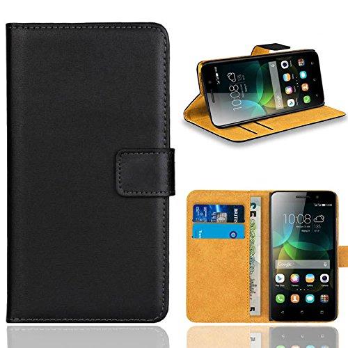 Huawei G Play Mini/Honor 4C Handy Tasche, FoneExpert® Wallet Hülle Flip Cover Hüllen Etui Ledertasche Lederhülle Premium Schutzhülle für Huawei G Play Mini/Honor 4C (Schwarz)