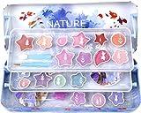 Lata de Belleza de 3 Pisos de Frozen II - Neceser Frozen II, Set de Maquillaje para Niñas - Maquillaje Frozen - Selección de Productos Seguros en un Estuche con 3 Pisos