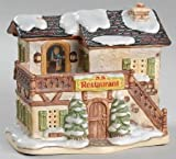 """Name of Piece: Winter's Comfort 5-1/2"""" Collection: Bavarian Village Collection Series: Hawthorne Porchlight Collections"""