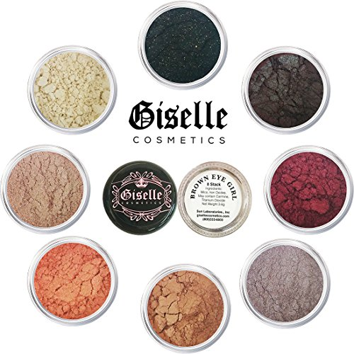 Eyeshadow Palette - Mineral Makeup Eye shadow Powder and Contouring Palette .28 oz   Pure, Non-Diluted Shimmer Mineral Make Up in 8 Smoky Eye Shades