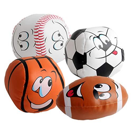IMIKEYA 4 Piezas Juguete Rugby Niños Juguete Baloncesto