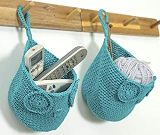AURALEAP Hanging/Stand Storage Baskets, Handmade Crocheting Products, Hanging Storage Basket Eco-Friendly Designed for Office and Home, Owl Shaped Foldable.