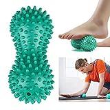 Goodtimes28 Balle de fitness de yoga de massage en forme de cacahuète balle en PVC pour soulager le stress Massage corporel de la main et des pieds