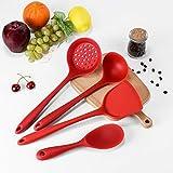 【𝐑𝐞𝐠𝐚𝐥𝐨】Utensili da cucina Set di utensili da cucina, Set di pentole antiaderenti Utensili da forno 4 pezzi Utensili da cucina in silicone, Miscelazione da forno per cucinare da cucina