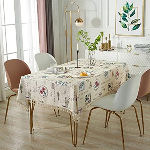 Mantel con Estampado Floral de Estilo Europeo Mantel Impermeable y a Prueba de Aceite Mantel de Mesa de Centro 140x200cm B