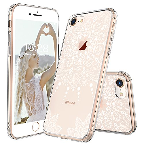 designer iphone 8 cases amazon comiphone 8 case, iphone 8 clear case, mosnovo white henna mandala floral lace clear
