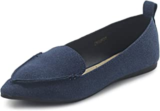 Women's Shoe Light Comfort Pointed Toe Moccasin Faux Suede Ballet Flats F77
