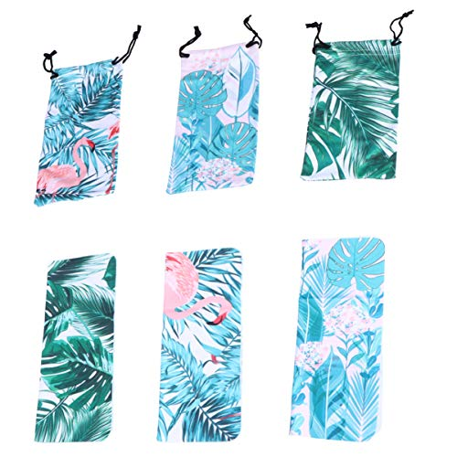 KESYOO Bolsas de Gafas de Sol Portátiles de 3 Piezas Bolsa de Bolsa de Microfibra Flamingo con Cierre de Resorte Gafas Tropicales Bolsa de Limpieza Y Almacenamiento para Viajes Al Aire