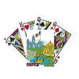 Bandera de la cultura de México famosos puntos turísticos graffiti póker jugar tarjeta mágica divertido juego de mesa
