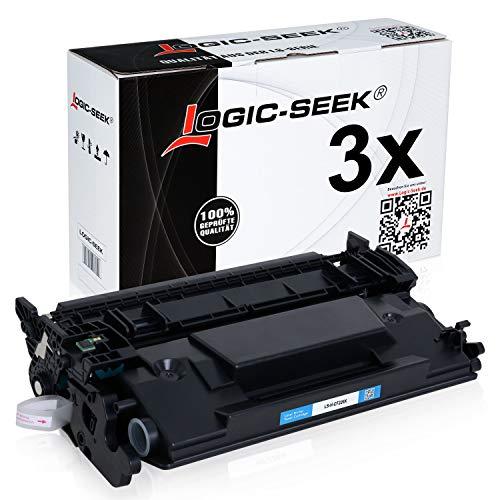 Logic-Seek® 3 Toner kompatibel zu HP CF226X 26X für HP Laserjet Pro M402dne M402n M402DW M402dw M400 Series MFP M426 DN/dw/fdn/fdw/fw/n M420 Series-Schwarz je 9.000 Seiten