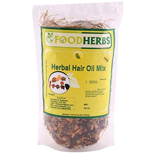 Foodherbs Herbal Hair Oil Mix (18 Vital Herbs) For long,...