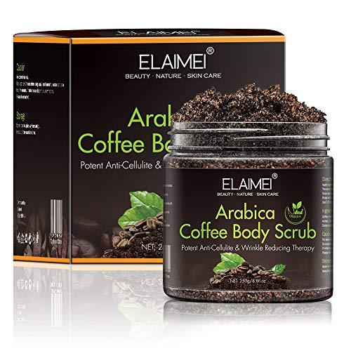 Arabica Coffee Body Scrub, Natürliches Körperpeeling für die Hautpflege, Feuchtigkeitsspendendes Peeling-Körperpeeling für Frauen und Männer