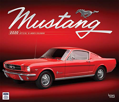 Mustang 2020 12 x 14 Inch Monthly Deluxe Wall Calendar with Foil Stamped Cover, Ford Motor Muscle Car