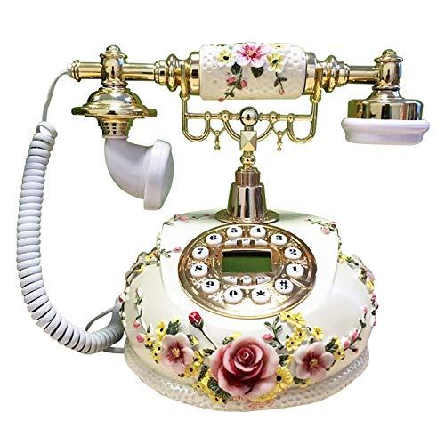 JFF Teléfono Antiguo, Teléfono Fijo Digital Clásico Tono De Llamada De Teléfono Fijo Retro Europeo Clásico con Pantalla De Llamada Entrante Y Función De Rellamada con Un Botón