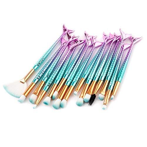 MEISINI Makeup Brushes Set Foundation Powder Eyeshadow Eyelash Blush Lip Makeup Brushes Tools Kit, Blue