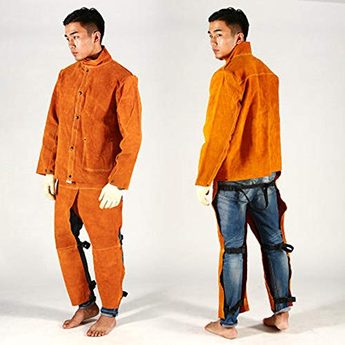 Schweißen Schutzkleidung,Leggings schutzkleidung,Arbeitshose für schweißer,Lederschürze Schweißer,Schweißarbeitsschürze,Schweißen Hitzebeständig,Arbeitssicherheit Zubehör,Schürze Schwere,Schweißen,