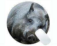 ラブリーピッグアンチスリップコンフォートゲーミングラウンドマウスパッド、イノシシ面白いかわいいピギーゲーミングラウンドマウスパッド
