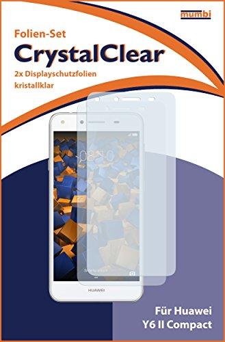 mumbi Schutzfolie kompatibel mit Huawei Y6 II compact Folie klar, Displayschutzfolie (2X) - 3