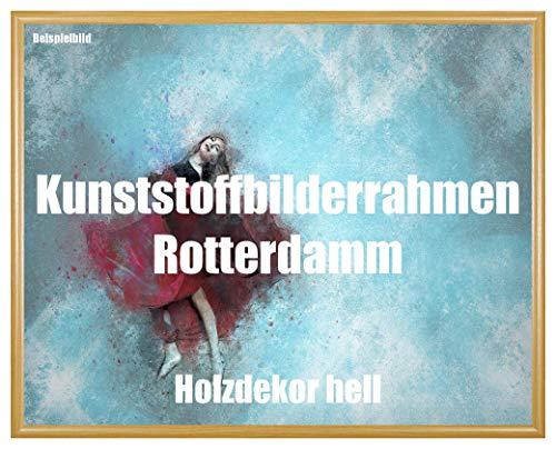 Fotolijst Rotterdam hout decor licht kunststof met kunstglas onbreekbaar glashelder UV-bestendig 35 x 100