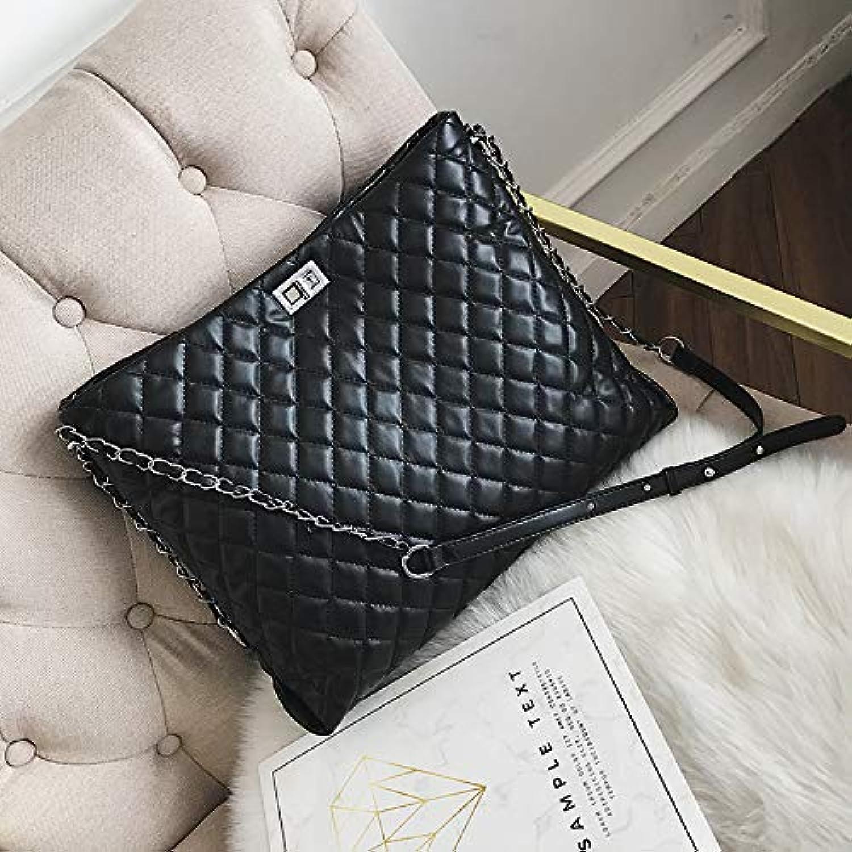 WANGZHAO Women's Bag Handbag, Shoulder Bag, Satchel, Embroidery Rhombus Chain