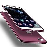 X-level Huawei P10 Lite Hülle, [Guadian Serie] Soft Flex Silikon Premium TPU Echtes Telefongefühl Handyhülle Schutzhülle für Huawei P10 Lite Case Cover [Weinrot]