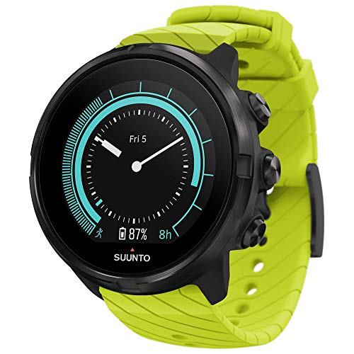 Suunto 9, GPS Sports Watch with Long Battery Life and Wrist-Based Heart Rate, Non-Barometer, Lime