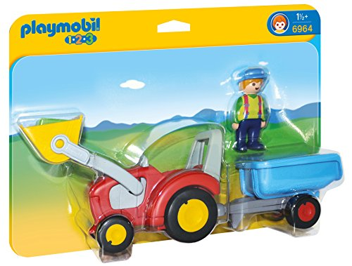Playmobil 1.2.3 Tractor Remolque 6964