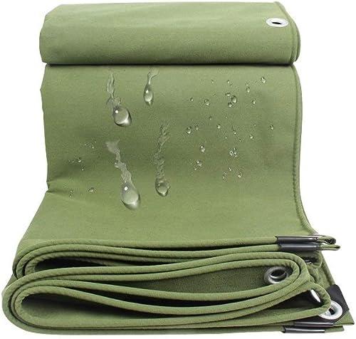 YANQ Bache imperméable en Lin, bache Utilitaire, bache très résistante (Couleur   Vert, Taille   150  200cm)