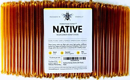 Honey Sticks, Pure Honey Straws- USA-(250 Pack)