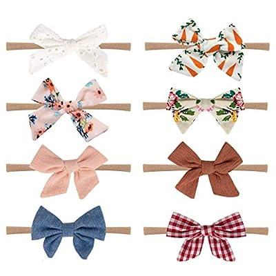 Amazon - Save 50%: Baby Girl Headbands and Bows, Nylon Baby Headbands, Handmade so…