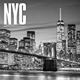 New York City Black & White 2021 12 x 12 Inch Monthly Square Wall Calendar, USA United States of America New York State Northeast Atlantic