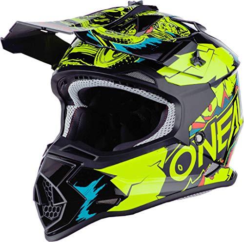 Oneal 2SRS Youth Helmet Villain Neon Yellow S (49/50 cm) Casco, Adultos Unisex
