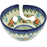 Polish Pottery Yarn Bowl 6-inch Corn Flower Butterfly UNIKAT