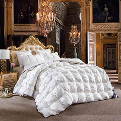 straw Luxurious goose down duvets, quilted 3d quilt, king queen double full-size quilt winter, thick blankets, white pink,20183617,220x240cm