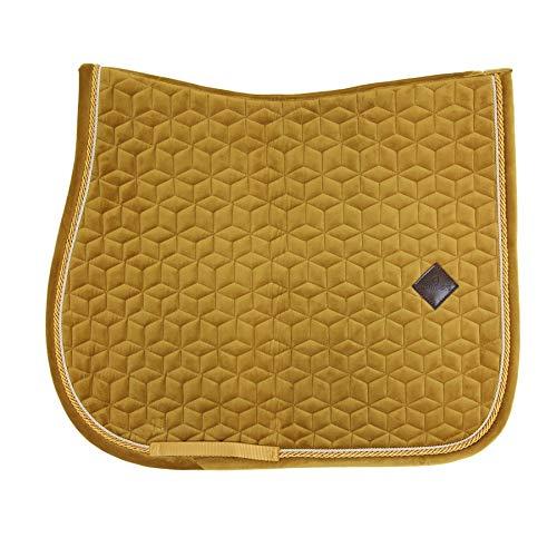 Kentucky Horsewear Tapis de selle en velours, taille : P, couleur : jaune moutarde