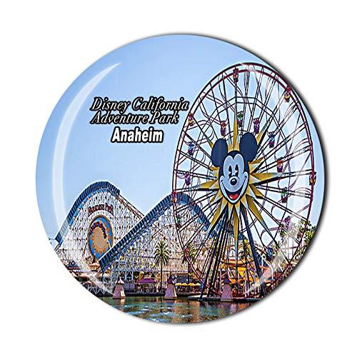Imán para nevera en 3D con diseño de Anaheim de Disney California Adventure Park de Estados Unidos de América, recuerdo de viaje, colección de recuerdos, regalo para decoración del hogar y la cocina