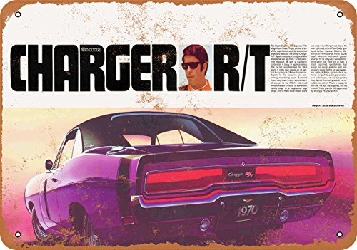 Wall-Color 7 x 10 Metal Sign - 1970 Dodge Charger R/T - Vintage Look